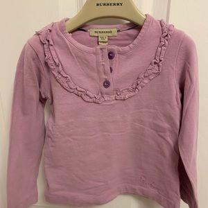 Burberry long sleeve in size 5Y